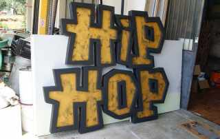 Insegna in polistirolo lettere 3D hip hop