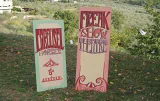 Insegne circo vintage