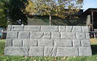 Finto muro in polistirolo