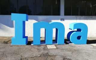 Lettere giganti 3D colorate in polistirolo