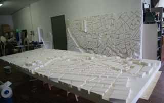 Modellino mappa Roma in polistirolo