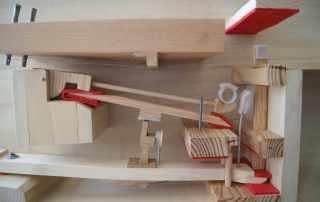 Modello ligneo meccanismo pianoforte