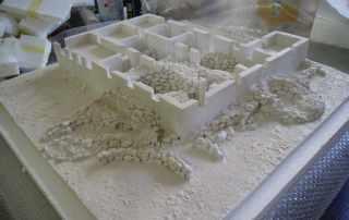 Modello scavo archeologico casa zapata