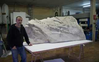 Replica paleontologica per museo