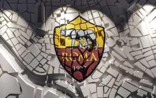 Allestimento per official store As Roma Calcio