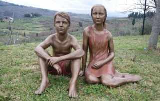 sculture bambini