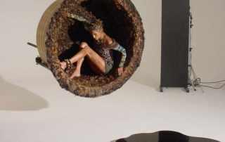 allestimento Set fotografico per campagna pubblicitaria di moda