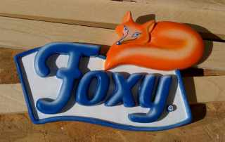 Insegna 3d in polistirolo per carta igienica Foxy