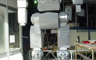 Robot terminator in resina