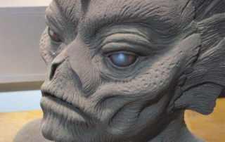 scultura anfibio